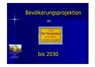 Bevölkerungsprojektion bis 2030 - Landkreis Rhön-Grabfeld