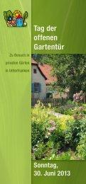 Tag der offenen Gartentür - Amt für Ernährung, Landwirtschaft und ...