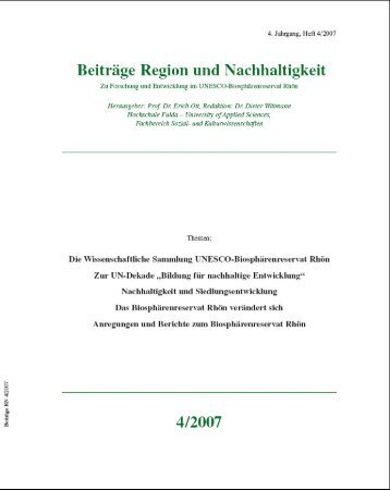 Gesamtausgabe 4/2007 - Wissenschaftliche Sammlung Rhön