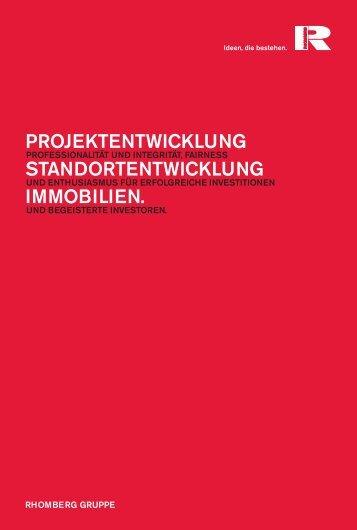 Folder Projekt- und Standortentwicklung - Rhomberg Bau