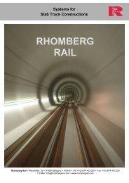Systems for Slab Track Constructions - Rhomberg Bahntechnik