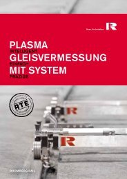 Plasma - Intelligente Gleisvermessung mit System
