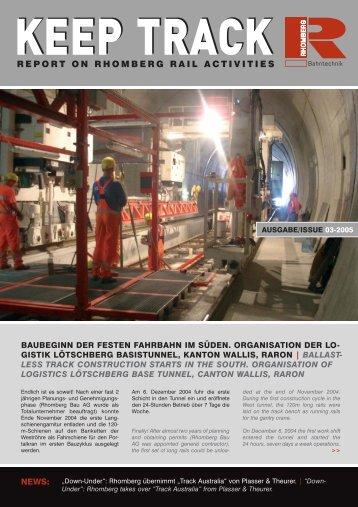 Download Keep Track Ausgabe 03_2005 - Rhomberg Bahntechnik