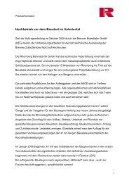 Hochbetrieb auf der BEG - Rhomberg Bahntechnik
