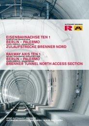 eisenbahnachse ten 1 berlin – palermo zulaufstrecke brenner nord ...