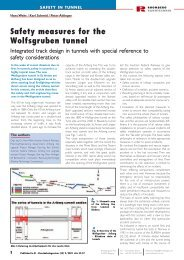 Safety measures for the Wolfsgruben tunnel - Rhomberg Bahntechnik