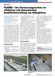 Plasma - Rhomberg Bahntechnik