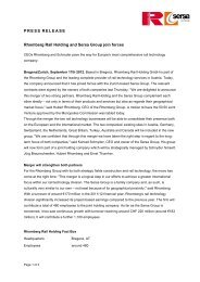 PRESS RELEASE Rhomberg Rail Holding and Sersa Group join ...