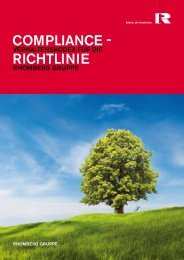Download der Compliance Richtline - Rhomberg Bau