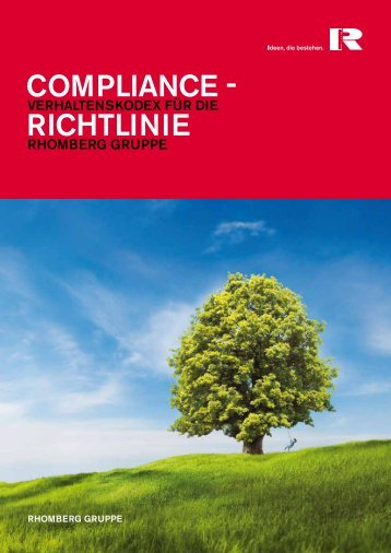 Download der Compliance Richtline - Rhomberg Bau