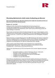 Rhomberg Bahntechnik erhält vierten Großauftrag am Brenner
