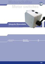 Motorschalter Motor switches - ELEKTRA Tailfingen