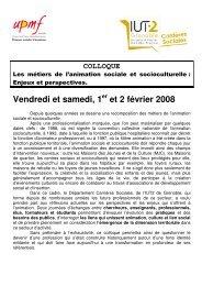 Vendredi et samedi, 1 et 2 février 2008 - Carrières publiques