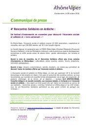 Ardêche - Rhône-Alpes Solidaires