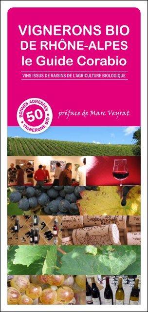 Guide Corabio des Vignerons bio de Rhône-Alpes