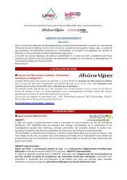 BREVES ENVIRONNEMENT - Rhône-Alpes Solidaires