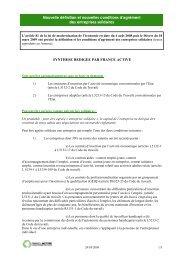 la note de synthèse réalisée par France Active en ... - Alpes Solidaires