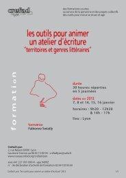 Crefad-Lyon les outils pour animer un atelier d'écriture 2013.indd