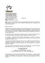 Direction générale adjointe au développement territorial et aux ...