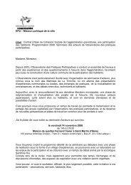 DPU – Mission politique de la ville Objet : Contrat Urbain de ...