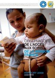 rapport 2009 - Observatoire National de la Pauvreté et de l ...