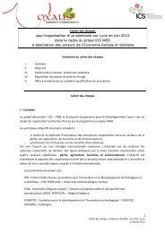 Cahier des charges pour l'organisation d'un séminaire sur Lyon en ...