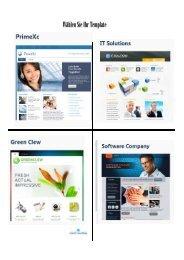 Template für die Erstellung von Homepage und Blogs