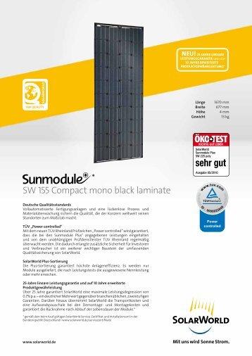 SW 155 Compact mono black laminate