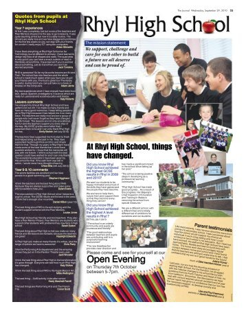 Open Evening - Rhyl High School