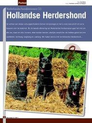 Hollandse Herdershond - Ria Hörter