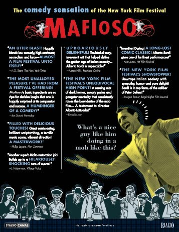 download a PDF file of these Mafioso flyers - Rialto Pictures
