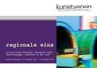 regionale eins - kunstverein burgwedel-isernhagen