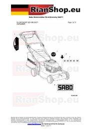 Sabo Benzinmäher 52-A Economy SA271 www.RianShop.eu der ...