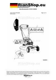 Sabo Benzinmäher 43-S4 A SA299 Seite 1 von 11