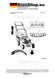 Sabo Benzinmäher 43-4 Standard SA298 Seite 1 von 11