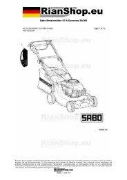 Sabo Benzinmäher 47-A Economy SA366 Seite 1 von 10