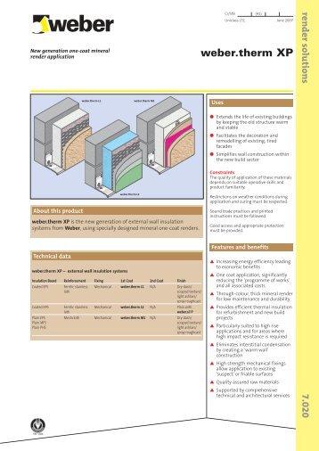 weber.therm XP – external wall insulation - RIBA Product Selector