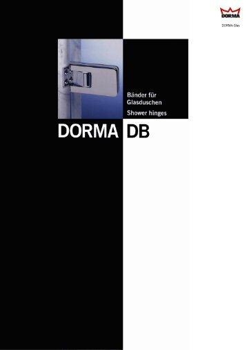 DORMA DB Shower hinges - RIBA Product Selector