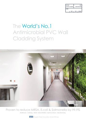 The World's No.1 Antimicrobial PVC Wall Cladding System