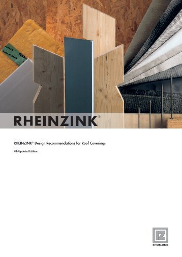 Rheinzink Design Recommendations for Roof Coverings