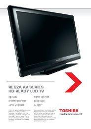 REGZA AV SERIES HD READY LCD TV