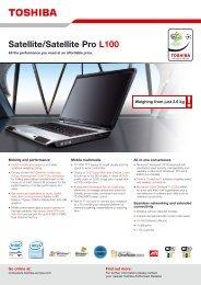 Satellite/Satellite Pro L100 - Toshiba