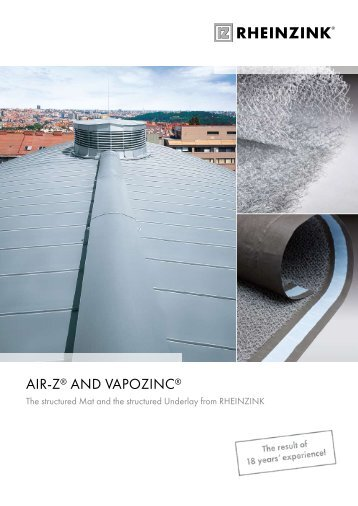 AIR-Z® And VAPOZInC® - RIBA Product Selector