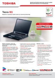 Toshiba Tecra M3 Datasheet