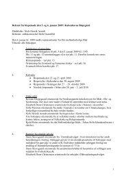 1 Referat fra bispemøde den 5. og 6. januar 2009 i ... - Ribe Stift