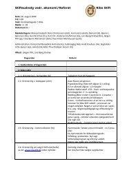 Stiftsudvalg vedr. økonomi/Referat Ribe Stift