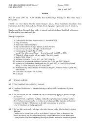 4. april 2007 Referat Den 29. marts 2007, kl. 10.30 ... - Ribe Stift