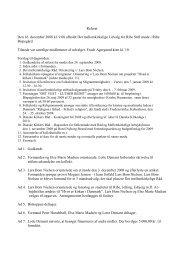 Referat Den 16. december 2008 kl. 9.00 afholdt Det ... - Ribe Stift