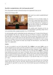 Hvad bliver menighedsrådenes rolle i den kommende ... - Ribe Stift