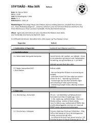 STIFTSRÅD - Ribe Stift Referat